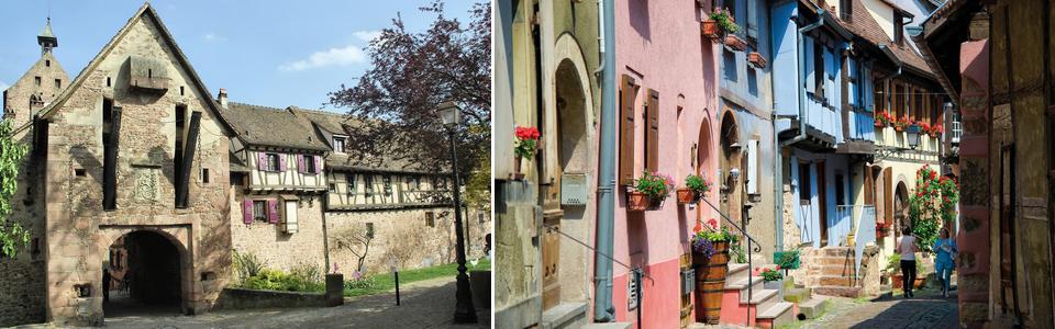 Le village de Riquiewihr en alsace sur la route des vins