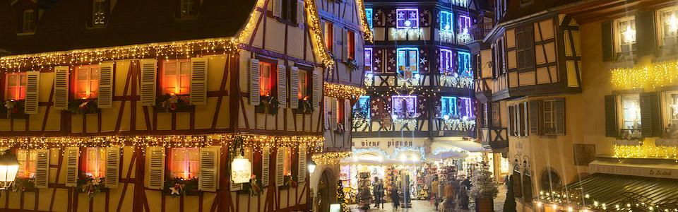 Marché de Noel à Colmar animation et décoration
